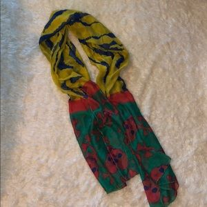Accessories - Mixed Print Scarf